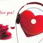 Für romantische Valentinstags-Freunde eine Karte mit beschreibbarem Herz