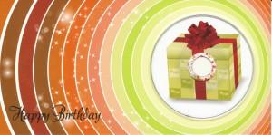 Happy Birthday Geschenk mit Mini CD-R